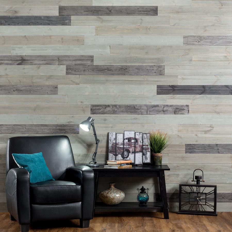 Rustic Grove - Wood Panel in Dark Gray