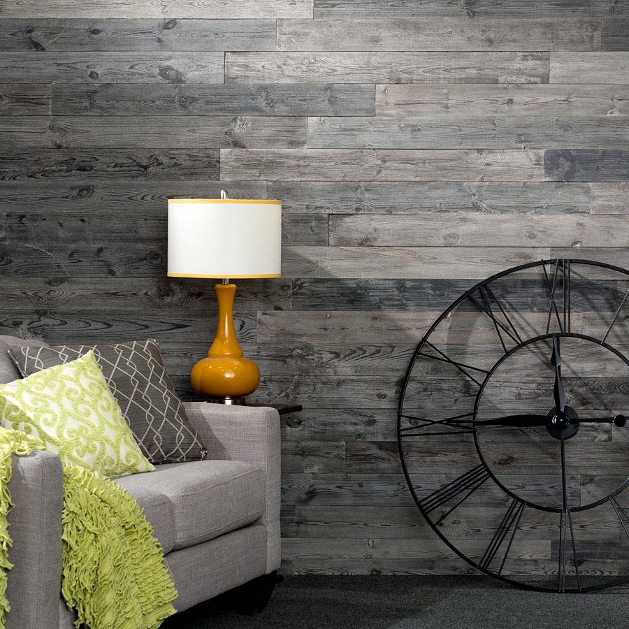 Rustic Grove - Wood Panel in Mixed Gray - Dark