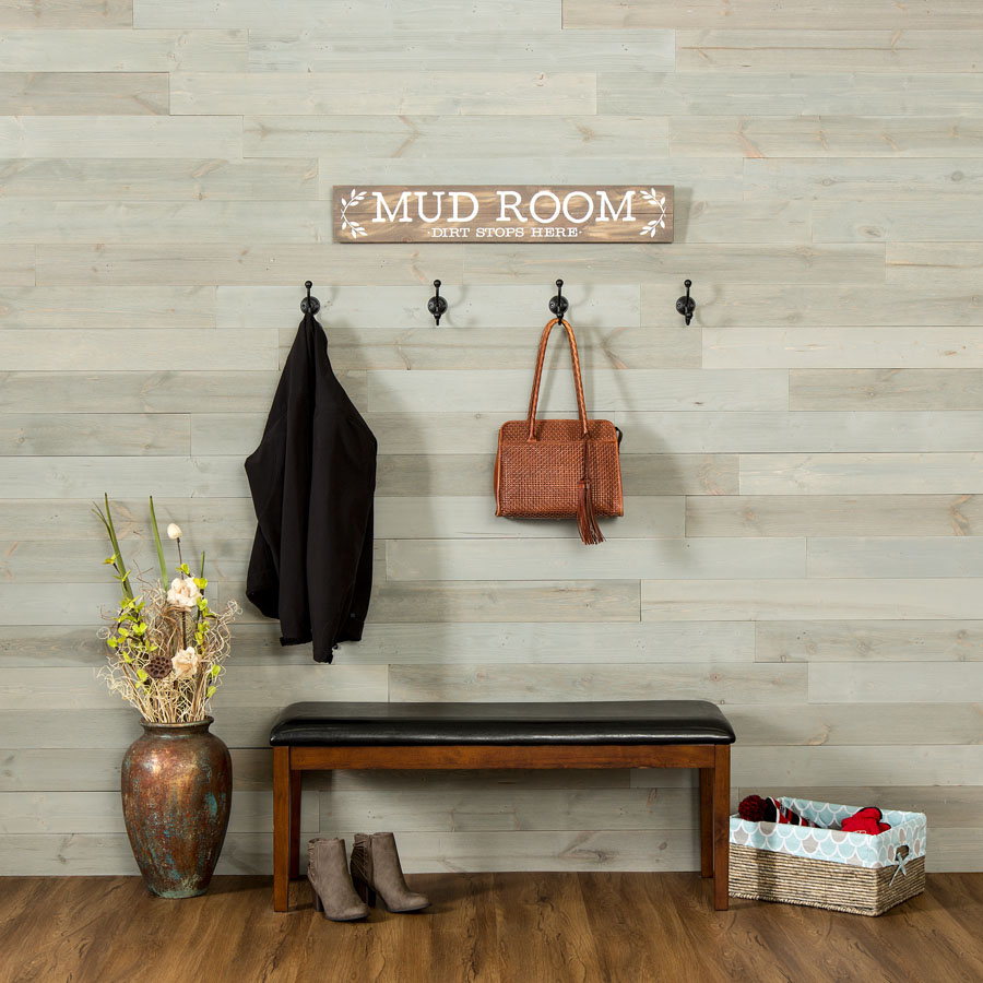 Rustic Grove - Wood Panel in Mixed Gray - Light
