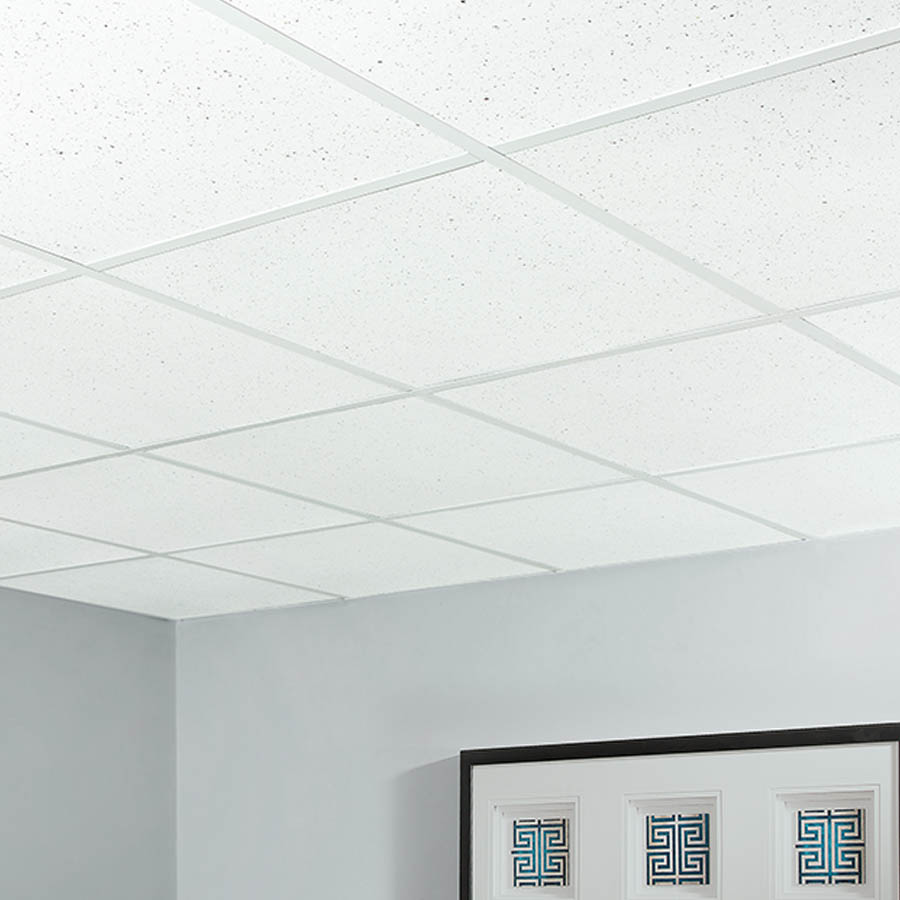 Genesis Recycled Ceiling Tile 2x2 in Flecked
