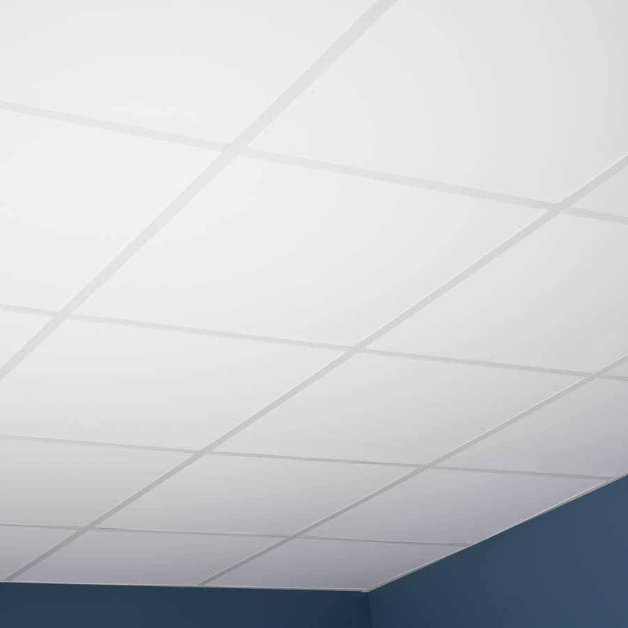 Genesis Ceiling Tile-2x2 Smooth Pro in White