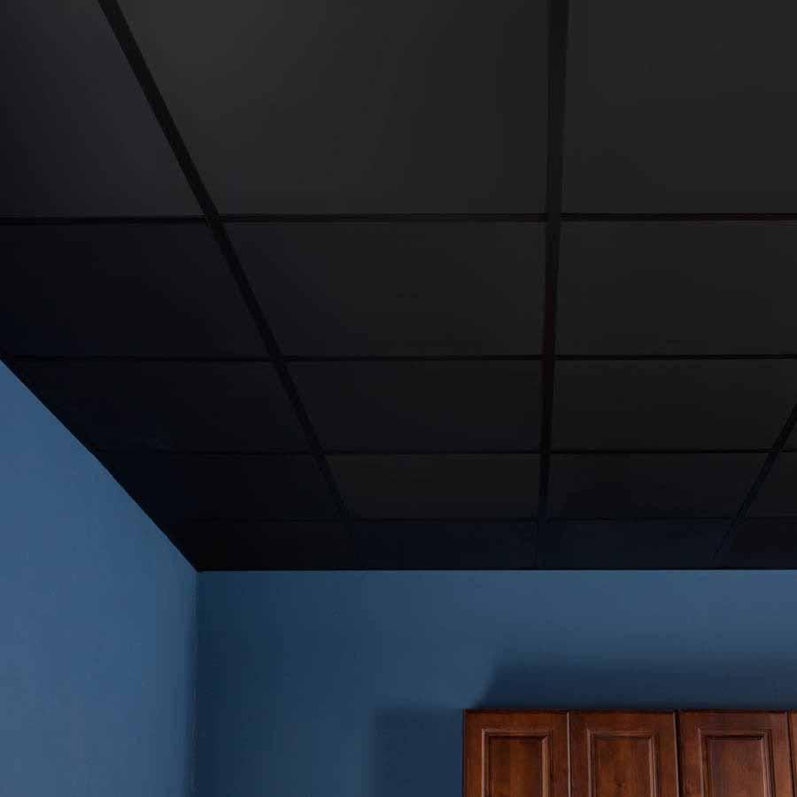 Genesis Ceiling Tile-2x2 Smooth Pro in Black