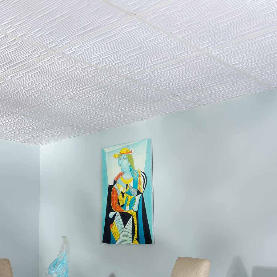 Genesis Ceiling Tile 2x2 Drifts in White