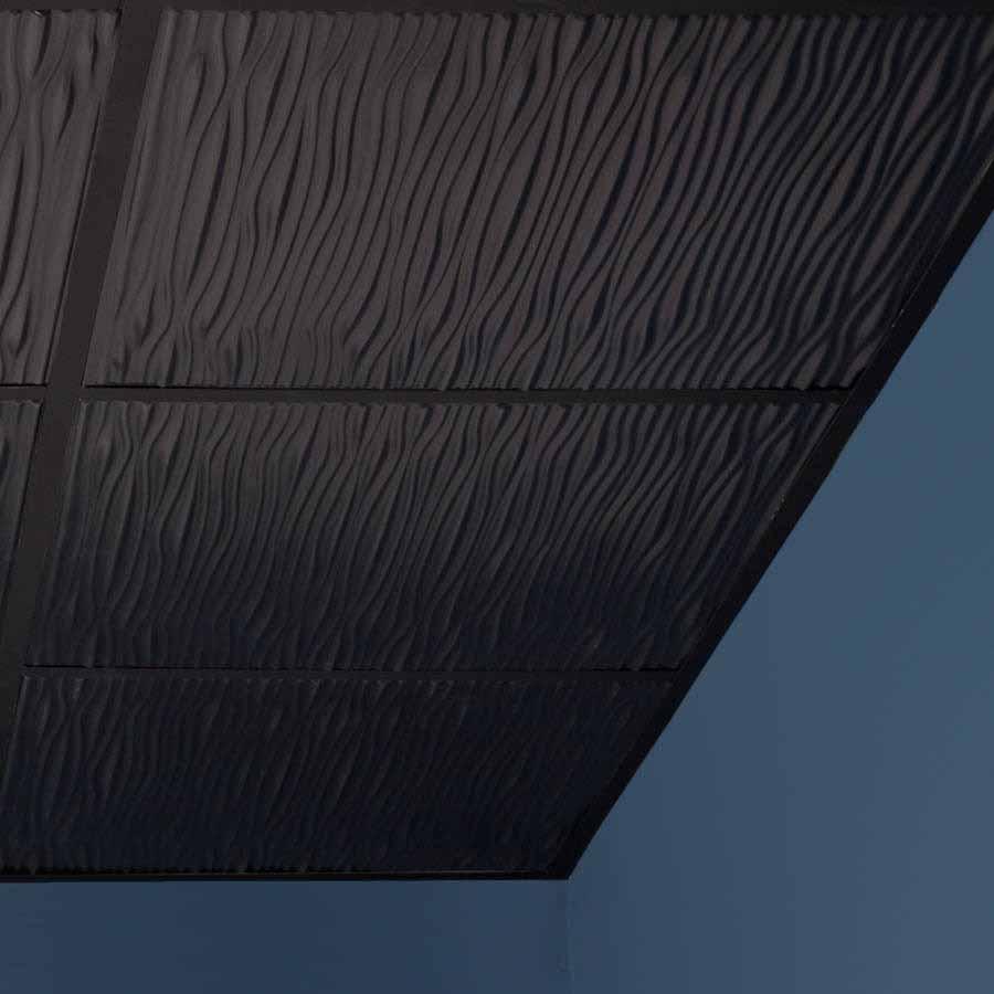 Genesis Ceiling Tile 2x2 Drifts in Black