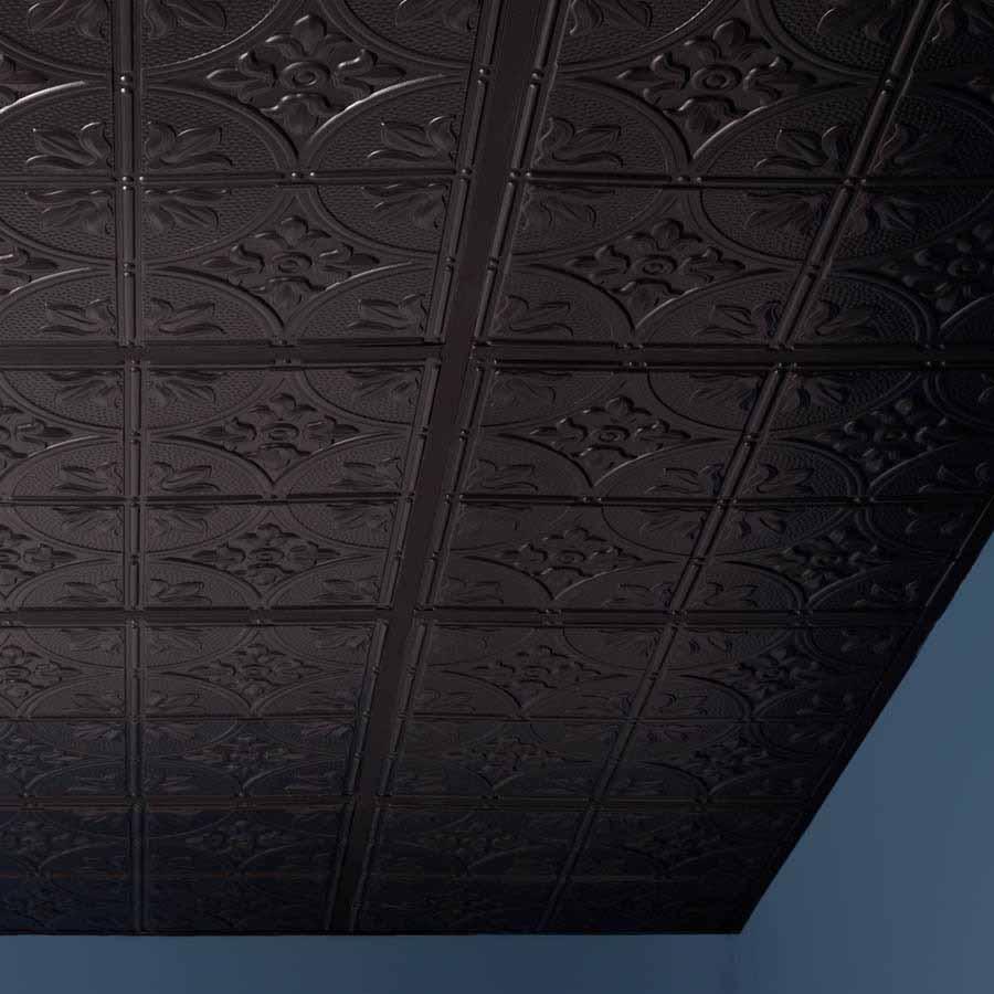 Genesis Ceiling Tile 2x2 Antique in Black
