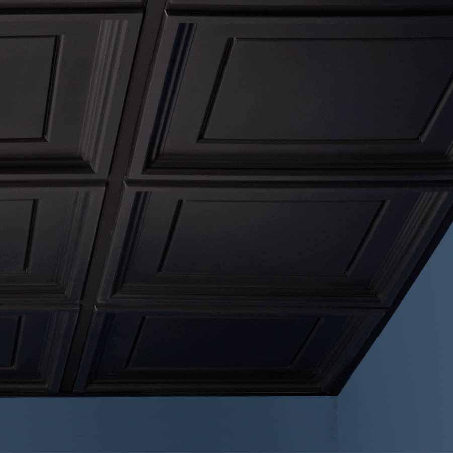 Genesis Ceiling Tile 2x2 Icon Coffer in Black