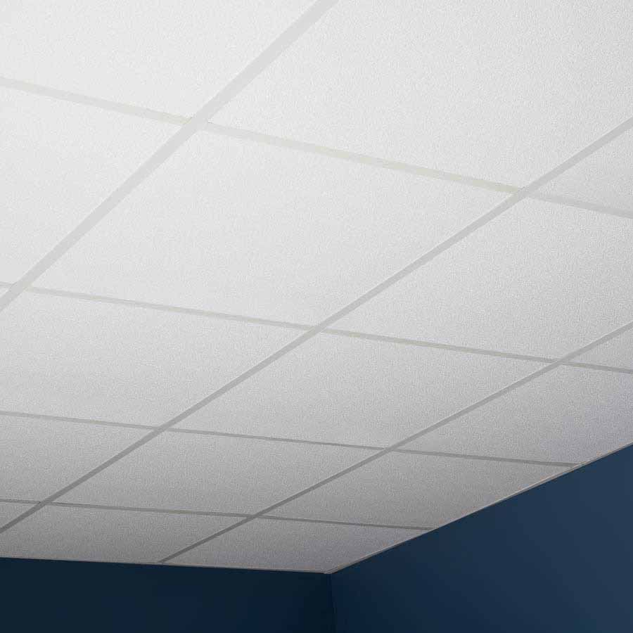 Genesis Ceiling Tile-2x2 Stucco Pro in White