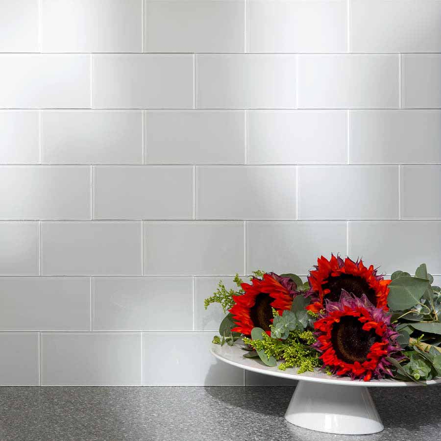 Aspect Backsplash-3x6 Glass Tile in Frost