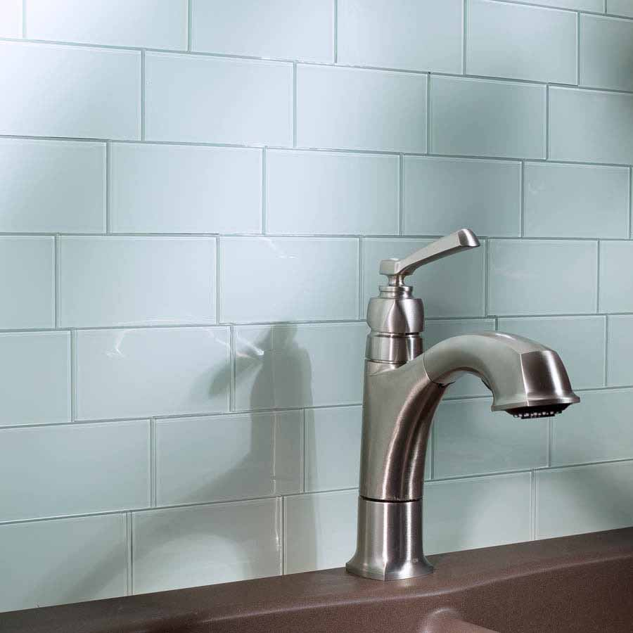 Aspect Backsplash-3x6 Glass Tile in Glacier
