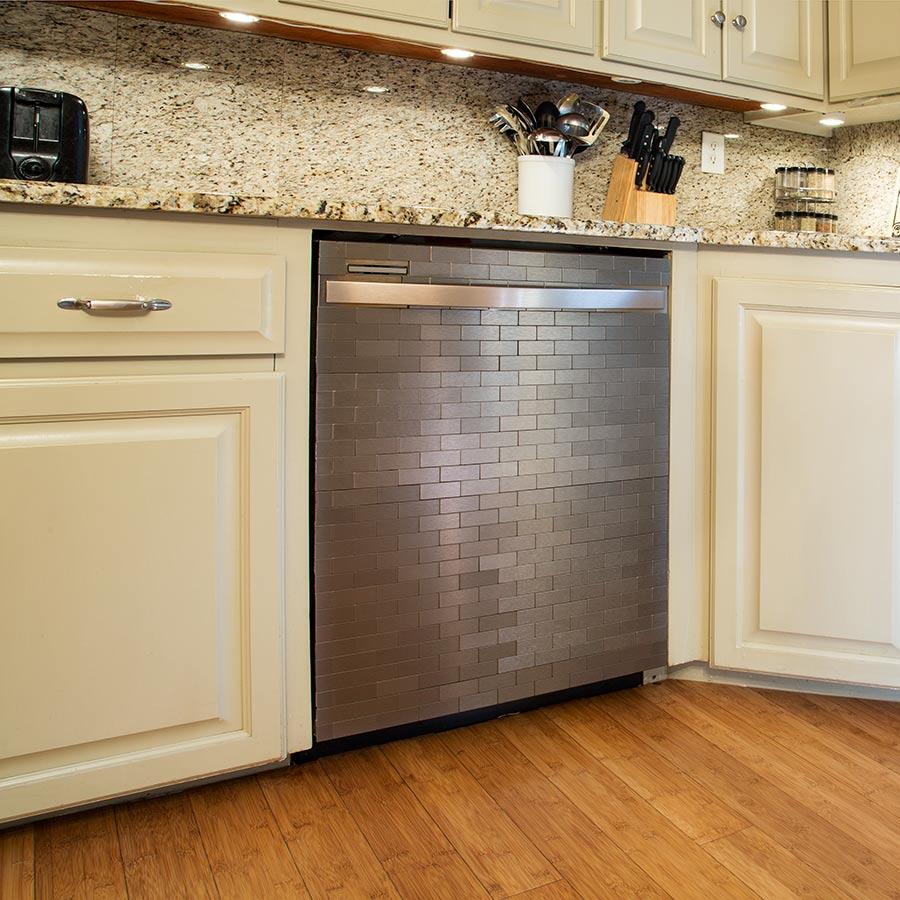Aspect Metal Tiles on Dishwasher