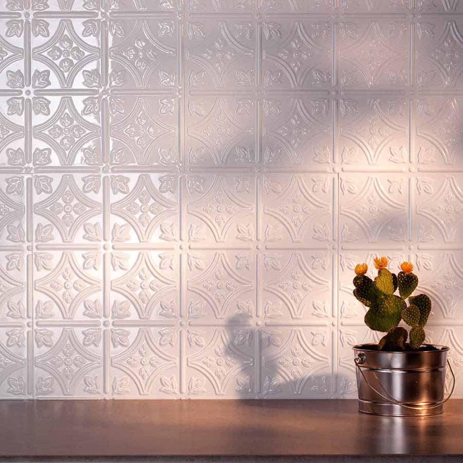 Fasade Backsplash - Traditional 1 in Gloss White