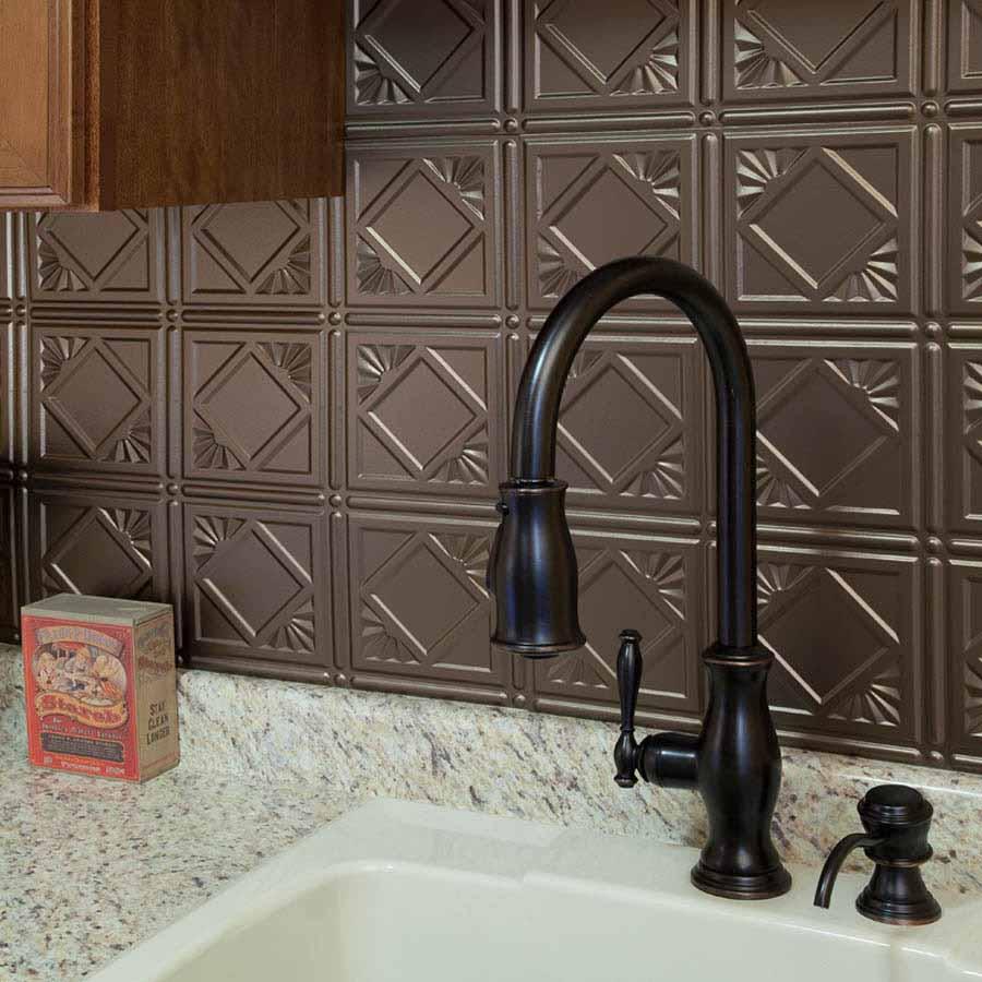 Fasade Backsplash - Traditional 4 in Argent Bronze