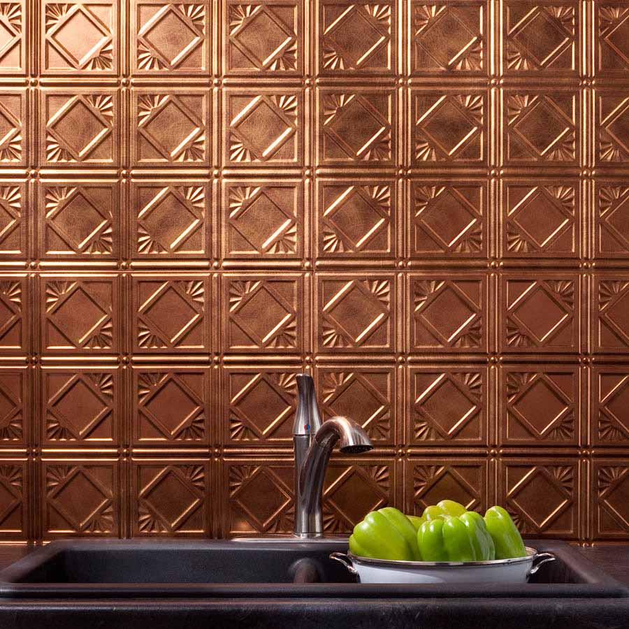 Fasade Backsplash - Traditional 4 in Antique Bronze