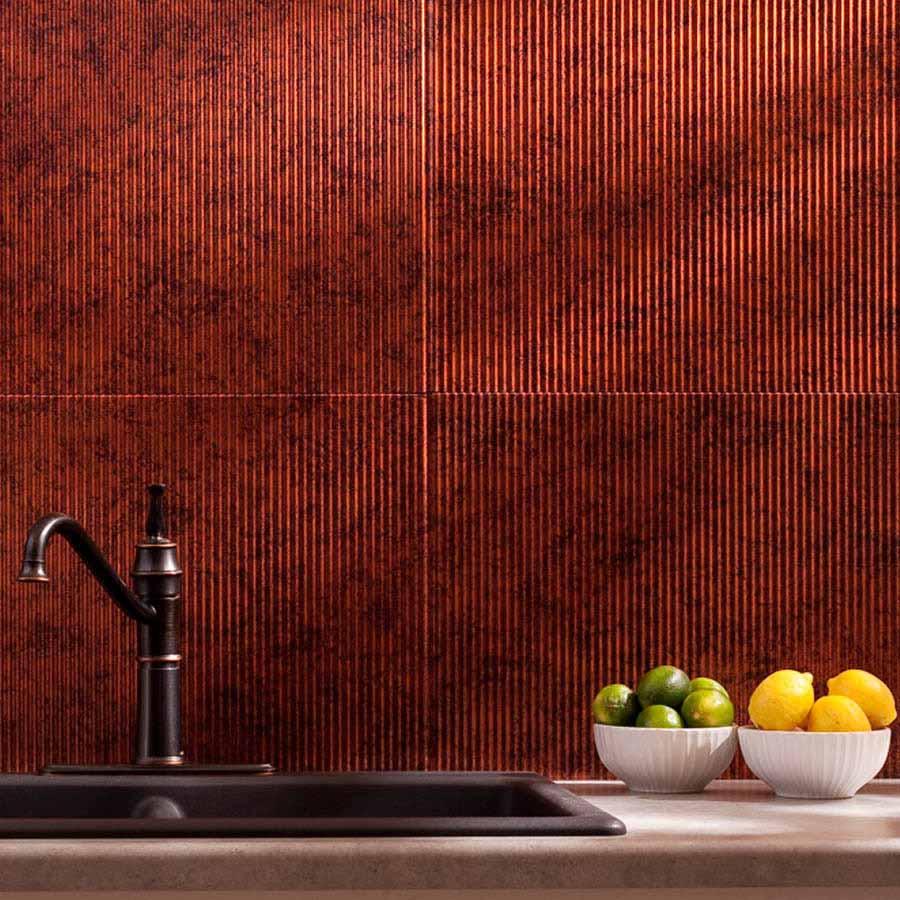 Fasade Backsplash - Rib in Moonstone Copper
