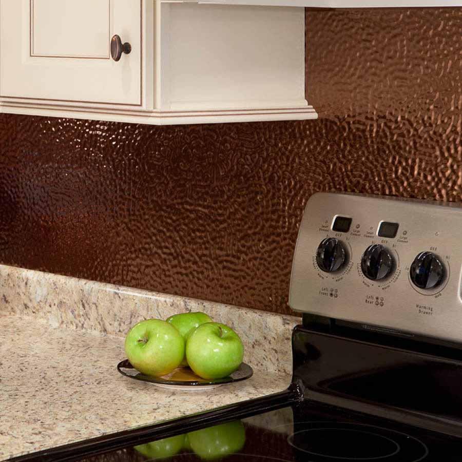 Fasade Backsplash - Hammered in Oil-Rubbed Bronze