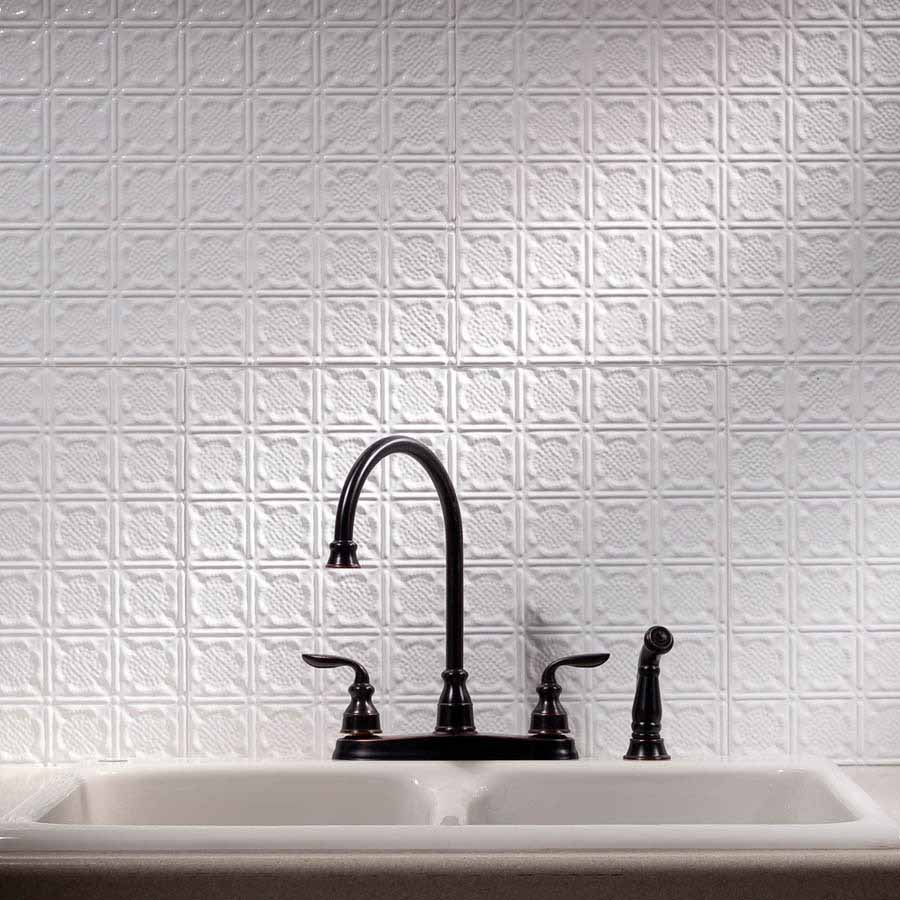 Fasade Backsplash - Traditional 6 in Gloss White