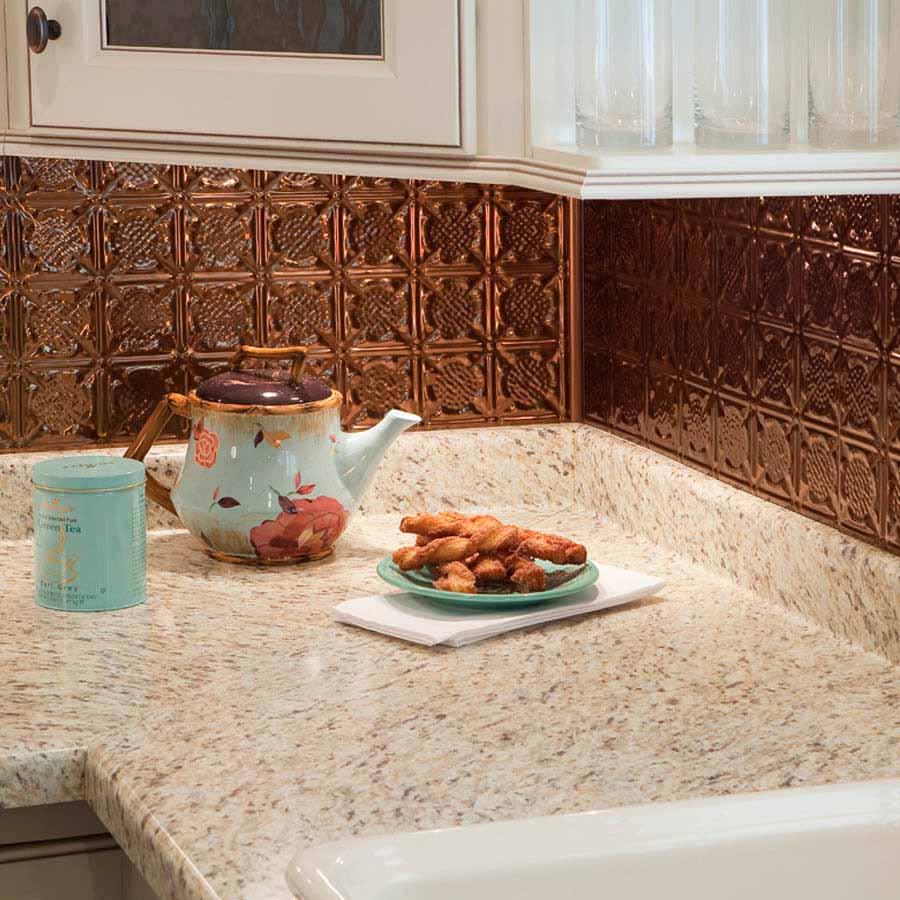 Fasade Backsplash - Traditional 6 in Oil-Rubbed Bronze