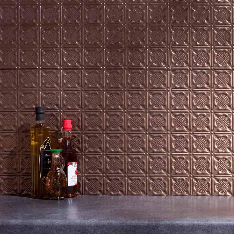 Fasade Backsplash - Traditional 6 in Argent Bronze