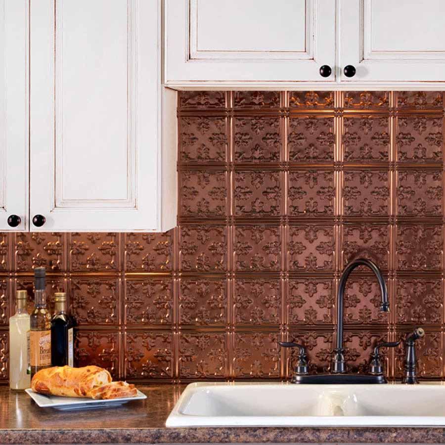 Fasade Backsplash - Traditional 10 in Oil-Rubbed Bronze