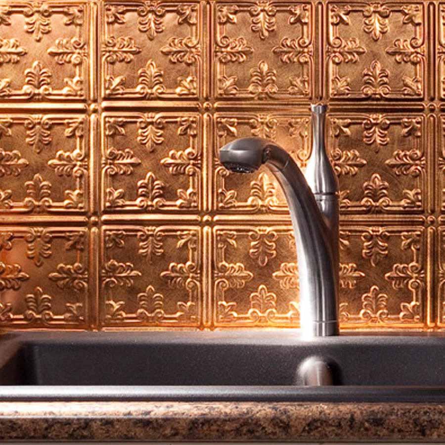 Fasade Backsplash - Traditional 10 in Antique Bronze