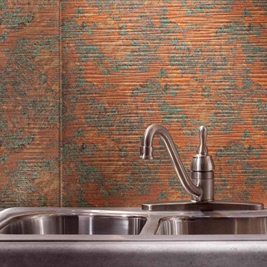 Fasade Backsplash - Ripple in Copper Fantasy
