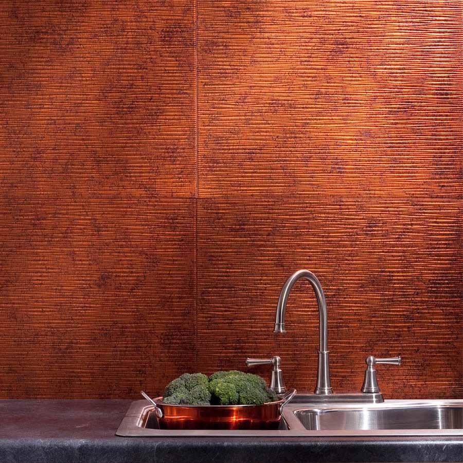 Fasade Backsplash - Ripple in Moonstone Copper