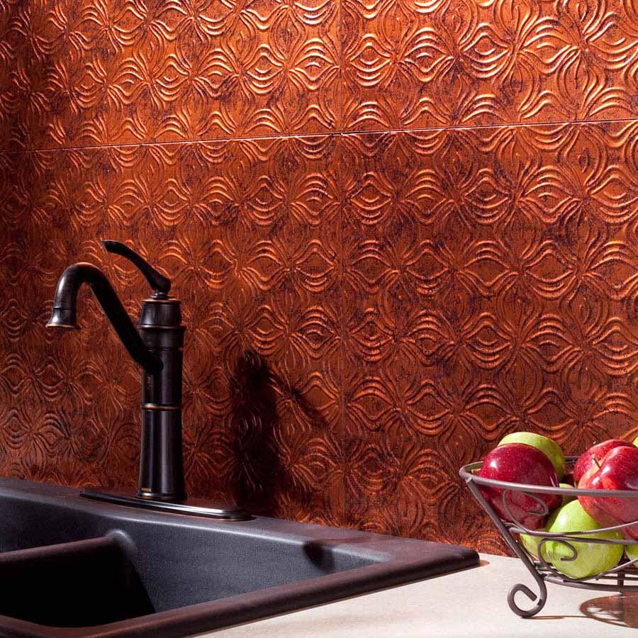 Fasade Backsplash - Lotus in Moonstone Copper