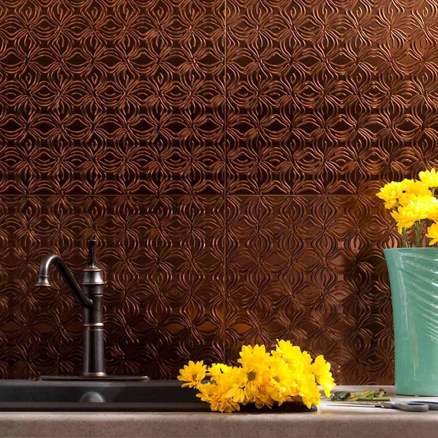 Fasade Backsplash - Lotus in Oil-Rubbed Bronze