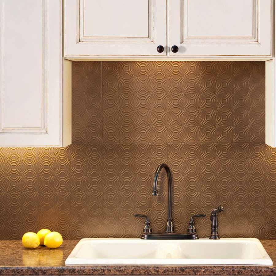 Fasade Backsplash - Lotus in Argent Bronze