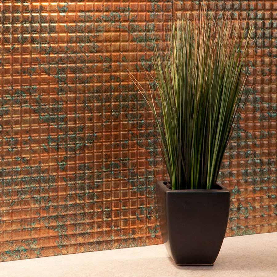 Fasade Backsplash - Square in Copper Fantasy