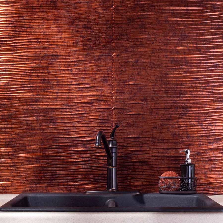 Fasade Backsplash - Waves in Moonstone Copper