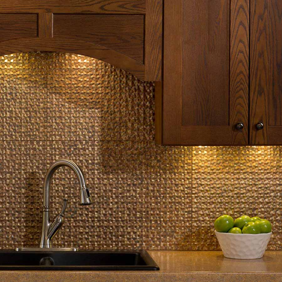 Fasade Backsplash - Terrain in Cracked Copper