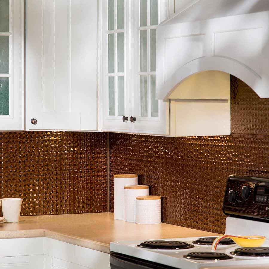 Fasade Backsplash - Terrain in Oil-Rubbed Bronze
