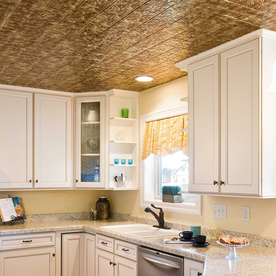Fasade Ceiling Tile-2x4 Direct Apply-Traditional 1 in Bermuda Bronze