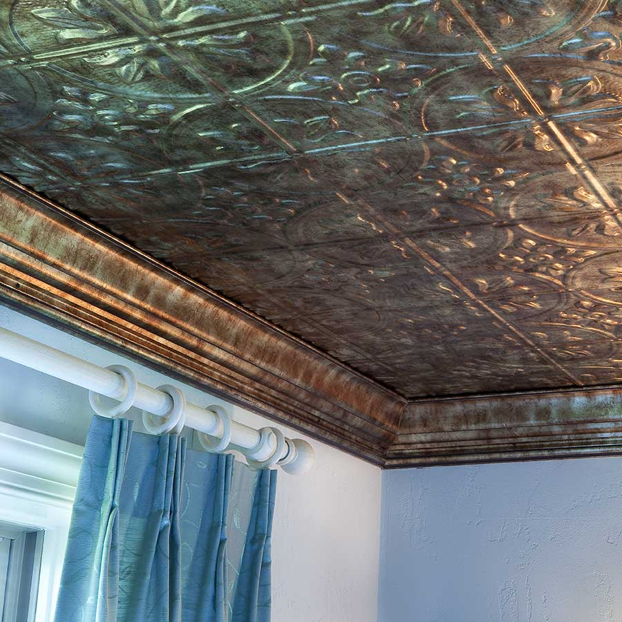 Fasade Ceiling Tile-2x4 Direct Apply-Traditional 2 in Bermuda Bronze