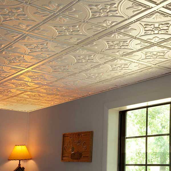 Genesis Ceiling Panels in Antique White