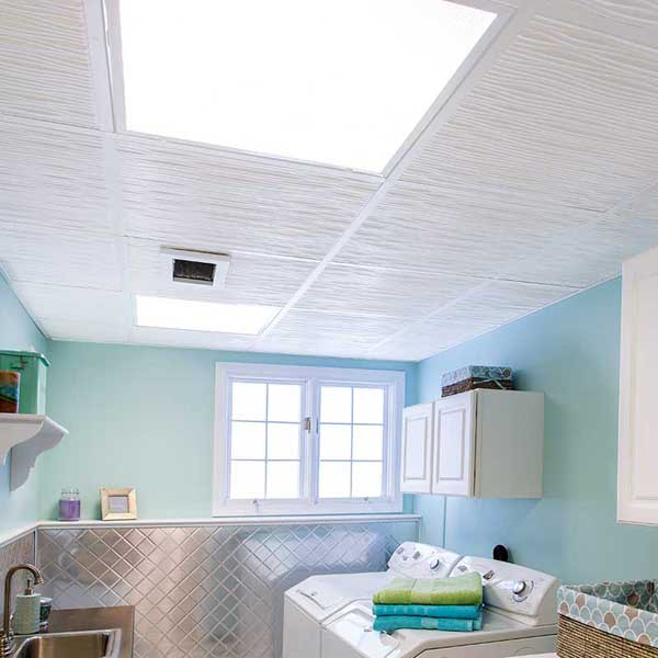 Genesis Ceiling Tiles in Drifts White