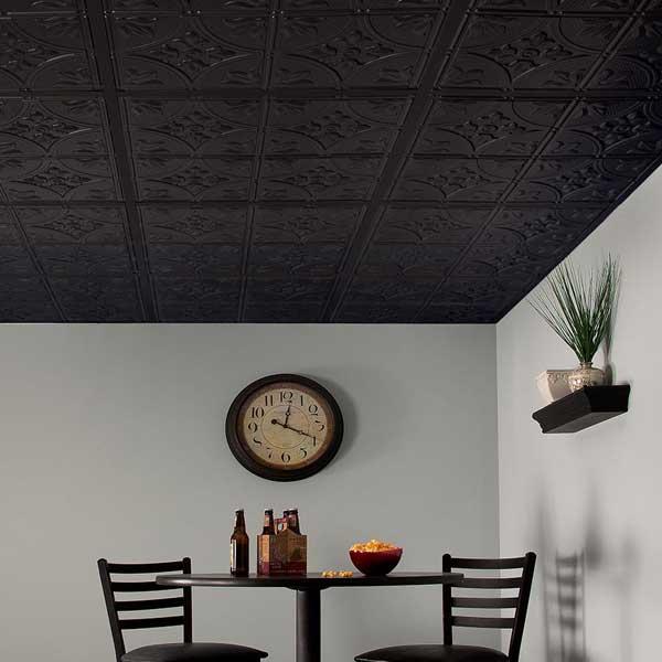 Genesis Ceiling Tiles in Antique Black