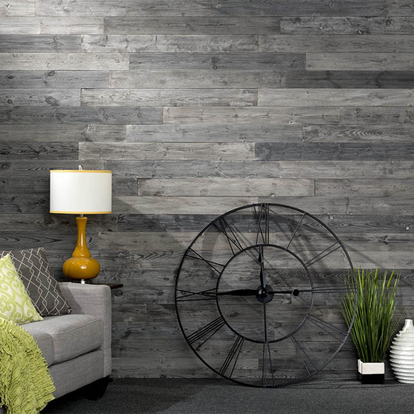 Rustic Grove Wall Planks in Dark Gray