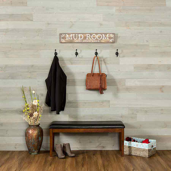 Rustic Grove Wall Planks in Mixed Gray-Light