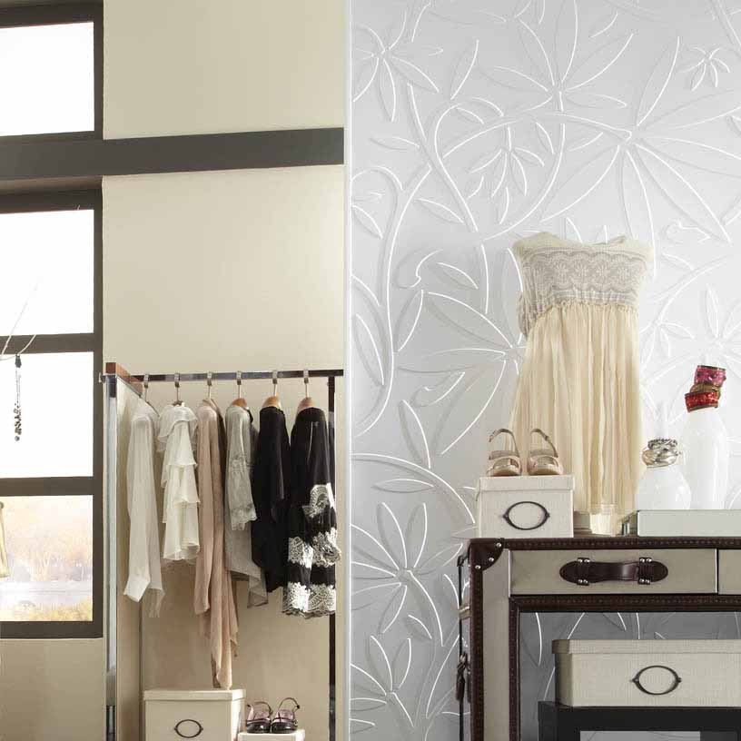 Fasade Wall Panel-Audrey in Matte White