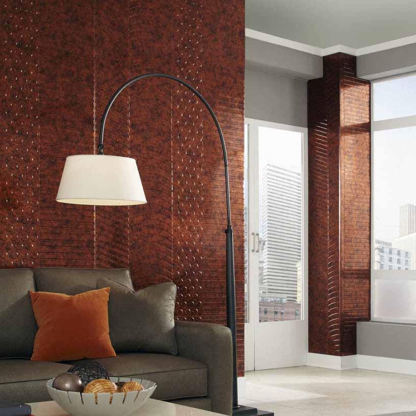 Fasade Wall Panel-Nexus in Moonstone Copper