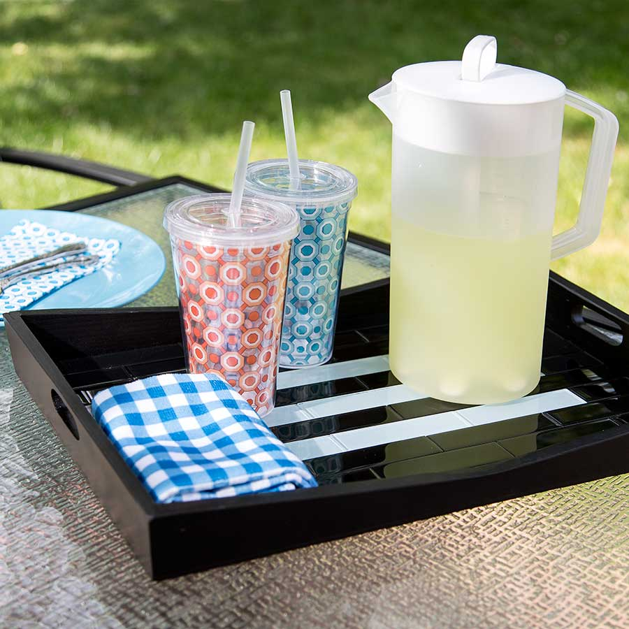 Serving Tray with Aspect Glass Tiles
