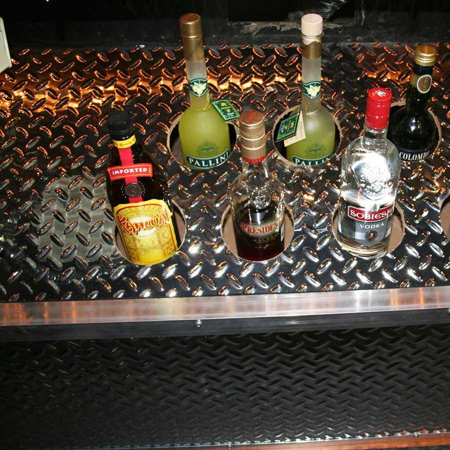 Bar Area with Fasade Diamond Plate