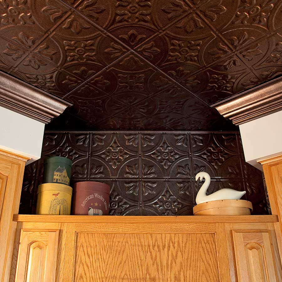 Ceiling Nook with Fasade Traditional 2 in Smoked Pewter
