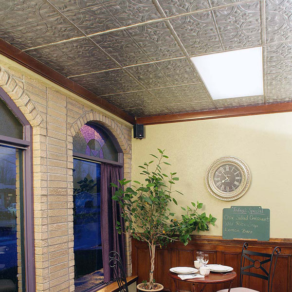Fasade Ceiling Tile in Traditional 2