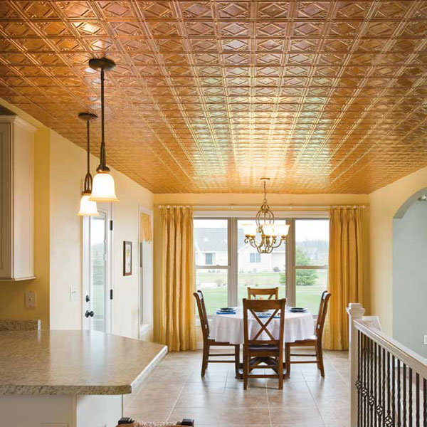 Fasade Ceiling Tile in Traditional 4